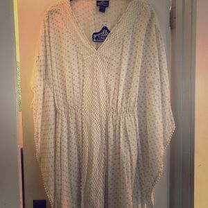 Cream Angie Tunic with Delicate Embroidery